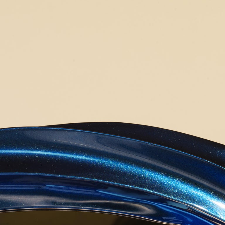 Modern Blue Jade Wave II series Mirror Floor Sample For Sale
