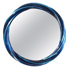 Blue Jade Wave II Mirror