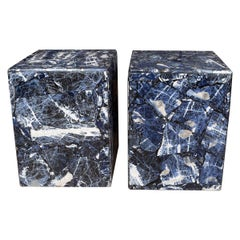 Blue Jasper Stone Veneer Tables