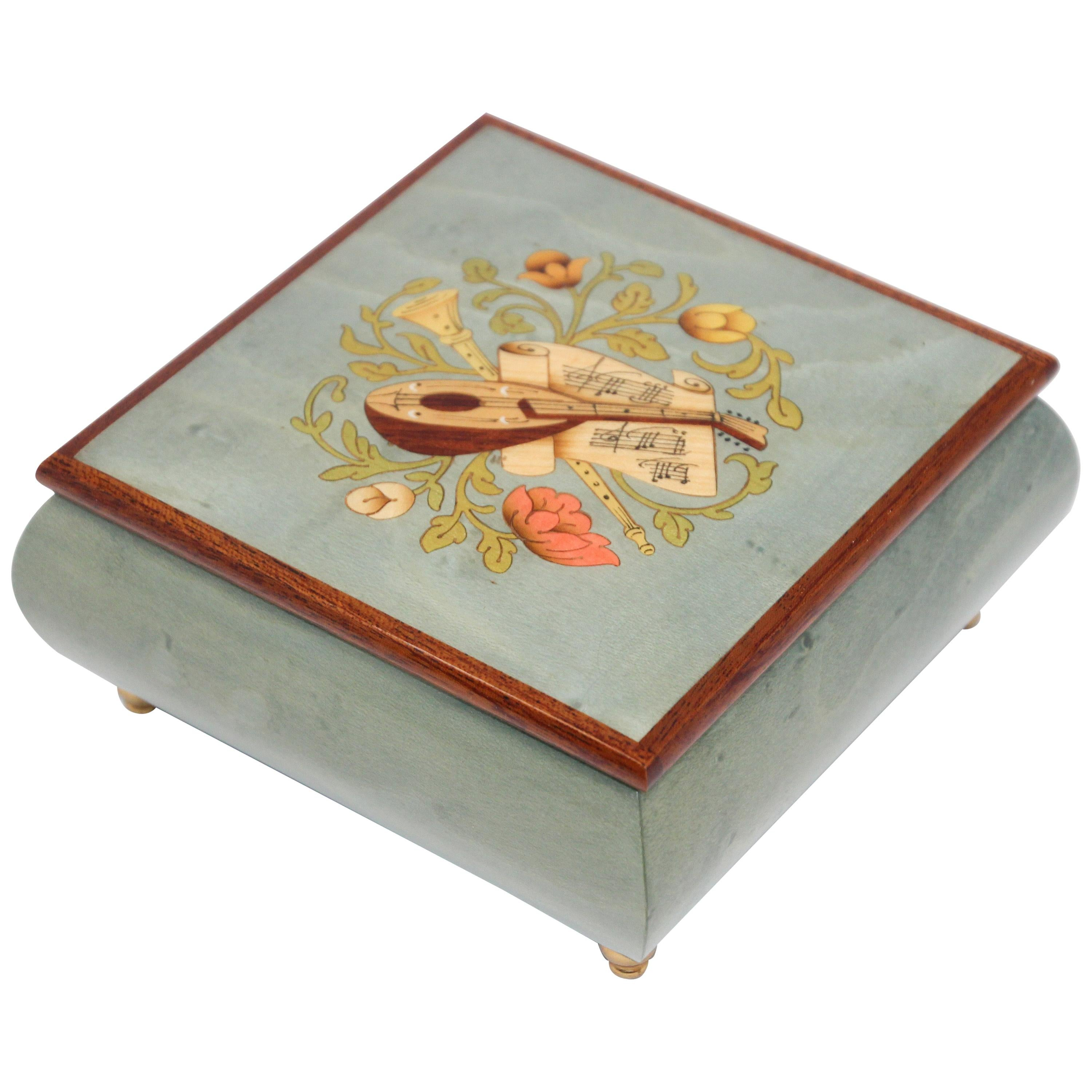 Blue Jewelry Music Box, Made in Italy