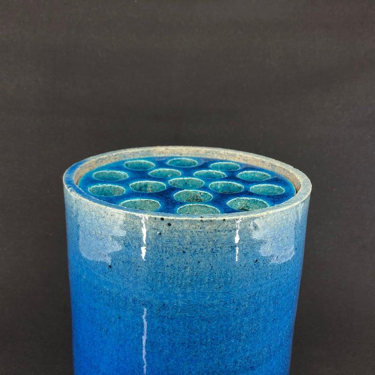 Blue Kähler Vase by Allan Schmidt from the 1970s In Good Condition For Sale In Copenhagen, DK