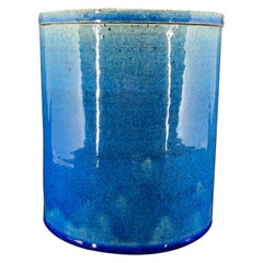 Blue Kähler Vase by Allan Schmidt from the 1970s