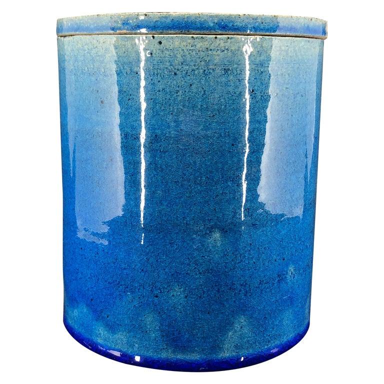 Blue Kähler Vase by Allan Schmidt from the 1970s For Sale