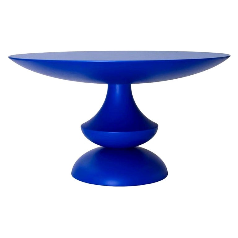In stock in Los Angeles, Blue Lacquered Birignao Side Table by Feruccio Laviani For Sale