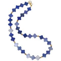 Blue Lapiz Gold Necklace