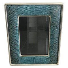 Blue Leather Photo Frame by Fabio Ltd