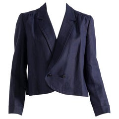 Blue Linen Blazer for Women by Valentino Miss V, Made in Italy