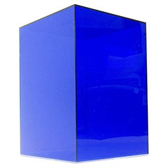 Blue Lucite Side Table