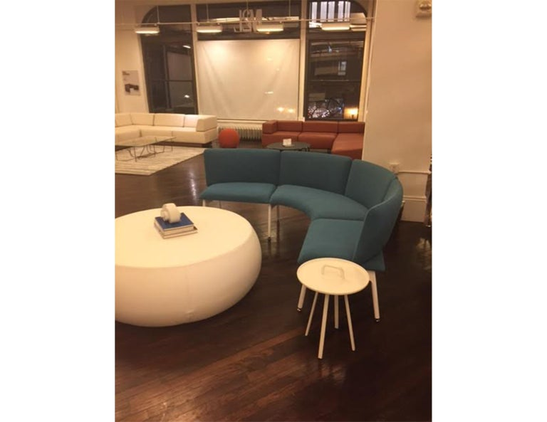 Blue Mega Bench with Back In Excellent Condition For Sale In New York, NY