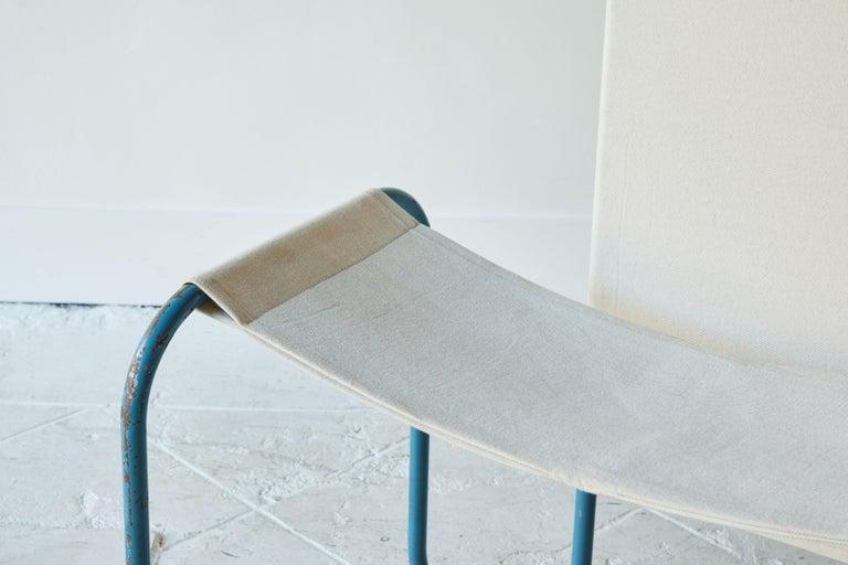 Blue Metal Bauhaus Sling Chair For Sale 3