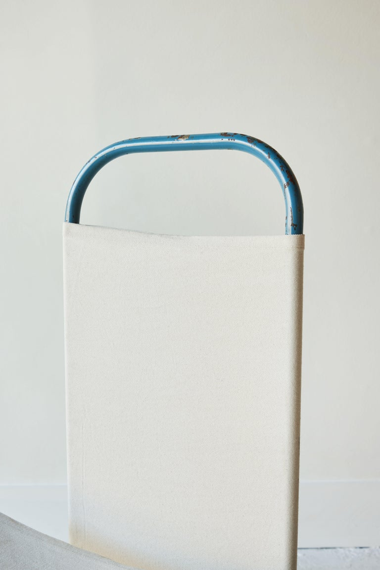 Blue Metal Bauhaus Sling Chair For Sale 4