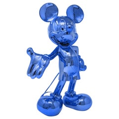 In Stock in Los Angeles Mickey Mouse Metallic Chrome Blue Pop Sculpture Figurine