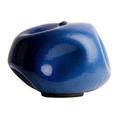 Blue Mid-Century Modern Handmade Ceramic Vase / Interior Sculpture / Stoneware