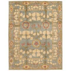 Blue Modern Art & Crafts Style Tibetan Wool Rug