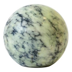 Blue Modern Marble Sphere, Italy, ca. 1970s