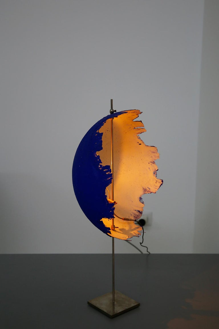 Blue Modern Table Lamp by Cattellani & Smith Mod. Postkrisi T 40, Signed 2000s For Sale 5