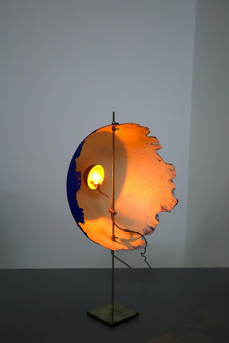 Blue Modern Table Lamp by Cattellani & Smith Mod. Postkrisi T 40, Signed 2000s In Good Condition For Sale In Milano, IT