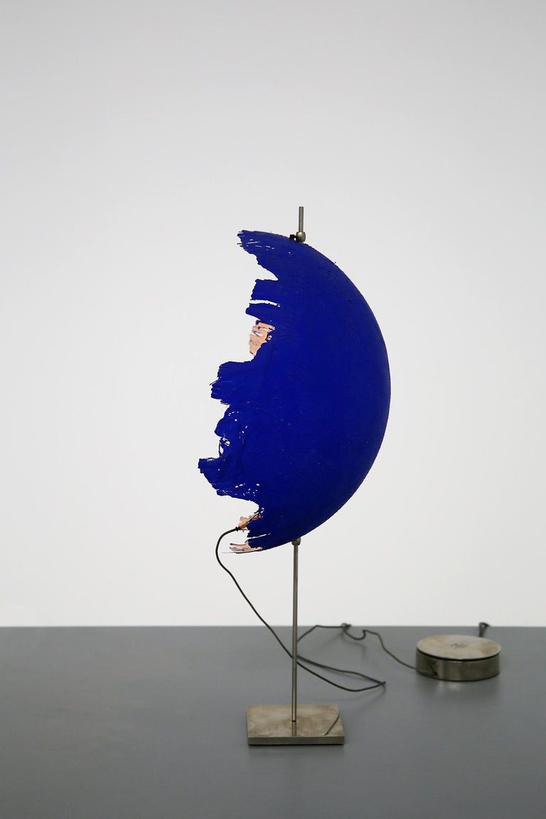 Steel Blue Modern Table Lamp by Cattellani & Smith Mod. Postkrisi T 40, Signed 2000s For Sale