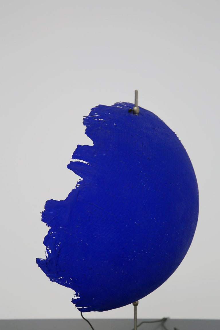 Blue Modern Table Lamp by Cattellani & Smith Mod. Postkrisi T 40, Signed 2000s For Sale 2
