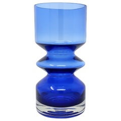 Blue Modernist Vase by Tamara Aladin for Riihimaen Lasi Oy