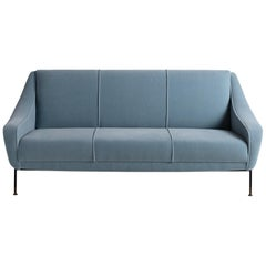 Blue Mohair Modern Sofa by Ezio Minotti, Italy, circa 1950