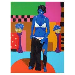 'Blue Monday' Portrait Painting by Alan Fears Pop Art