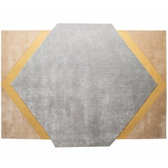 Blue Moon Rug Hand Tufted in Wool and Viscose Blend