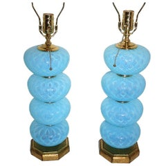 Blue Murano Glass Lamps