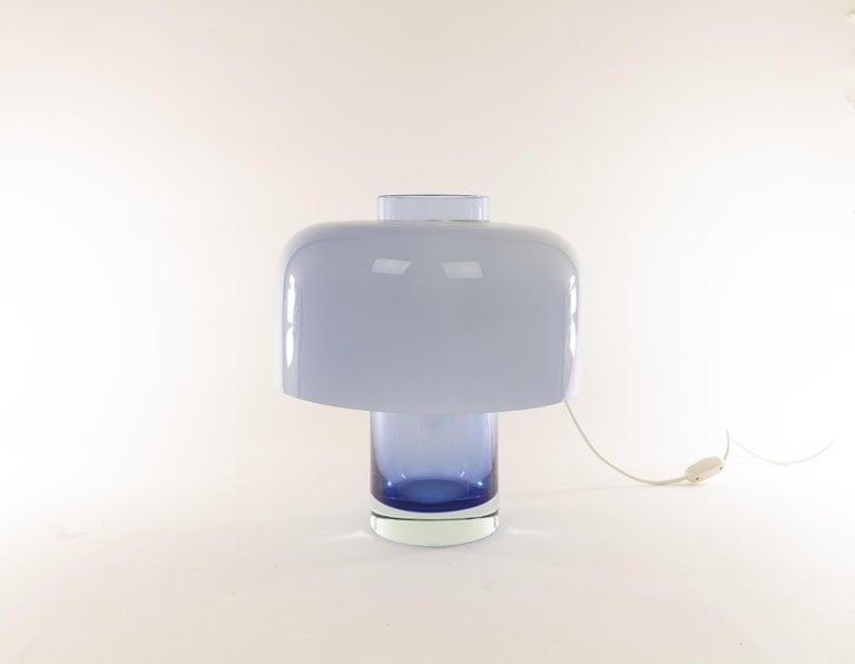 Mid-Century Modern Blue Murano Glass Table Lamp LT 226 by Carlo Nason for A.V. Mazzega, 1960s