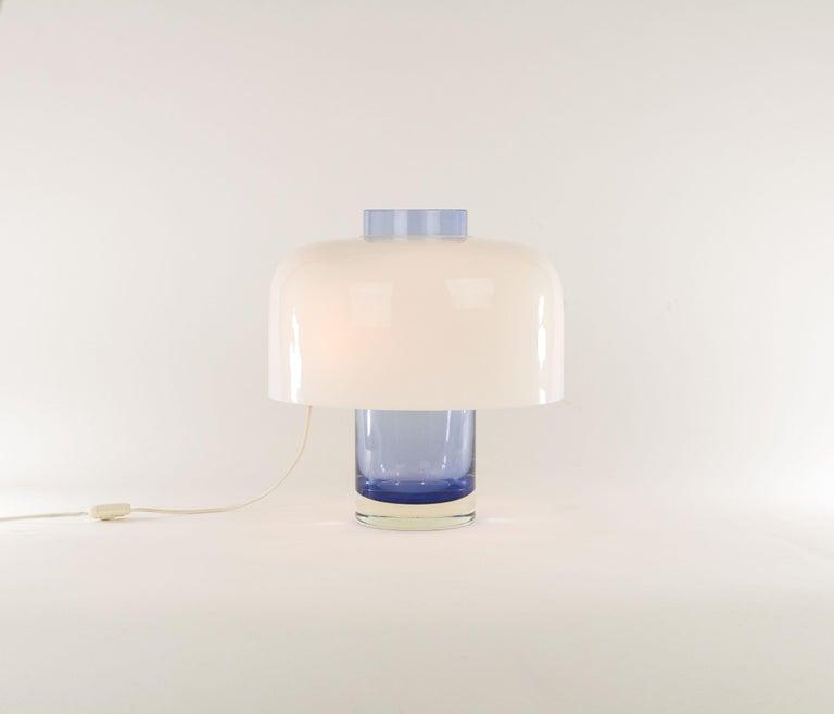 Italian Blue Murano Glass Table Lamp LT 226 by Carlo Nason for A.V. Mazzega, 1960s For Sale