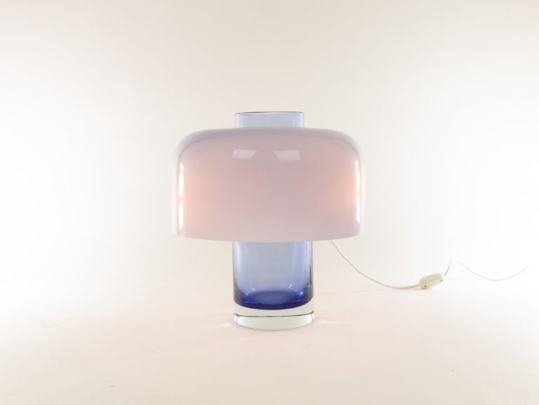 Mid-20th Century Blue Murano Glass Table Lamp LT 226 by Carlo Nason for A.V. Mazzega, 1960s