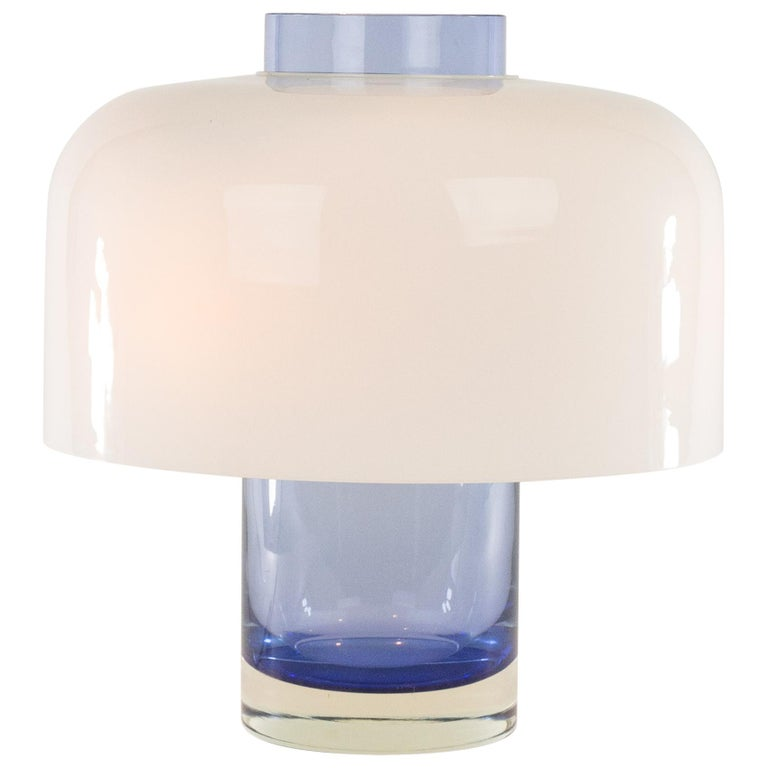 Blue Murano Glass Table Lamp LT 226 by Carlo Nason for A.V. Mazzega, 1960s For Sale