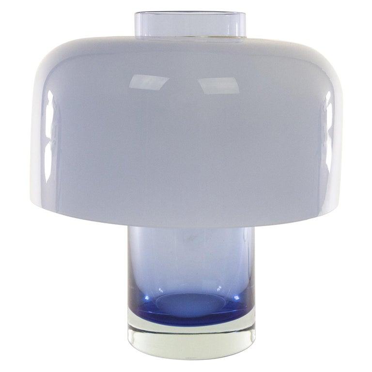 Blue Murano Glass Table Lamp LT 226 by Carlo Nason for A.V. Mazzega, 1960s