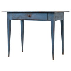 Blue Neoclassical Style Swedish Writing Table