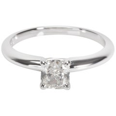 Blue Nile Diamond Engagement Ring in 14 Karat White Gold GIA I SI2 0.71 Carat