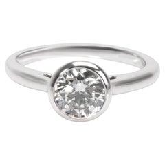 Blue Nile Diamond Engagement Ring in Platinum GIA Certified E VVS2 1.09 Carat