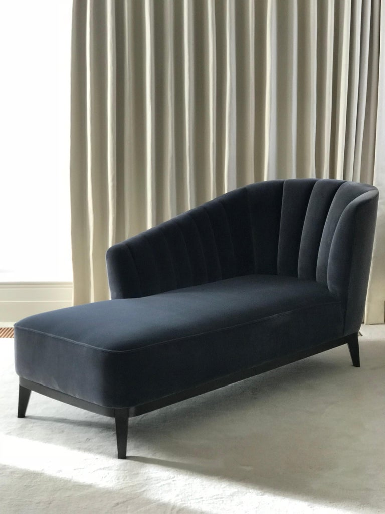 As the Greek goddess of love, beauty, pleasure and procreation, Aphrodite possesses both feminine and masculine characteristics, as well as grace and elegance. Like the Aphrodite chair, the Chaise is curvy and sensual in its form with soft and