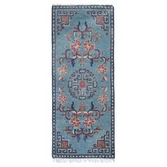 Blue Oriental Rug Antique Rugs, Blue Chinese Rug, Handmade Carpet Runner