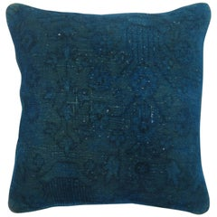 Blue Over Dyed Square Turkish Pillow