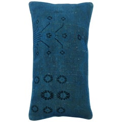 Blue Over-Dyed Turkish Pillow