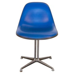 Blue Padded La Fonda Eames Chair for Herman Miller