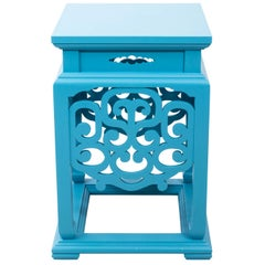 Blue Painted Chinese Garden Seat