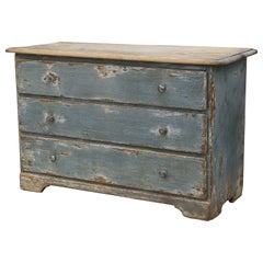 Blue Painted Commode