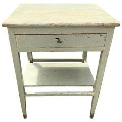Blue Painted Side Table