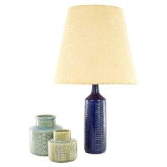 Blue Palshus Table Lamp Model DL/27 by Annelise and Per Linnemann-Schmidt