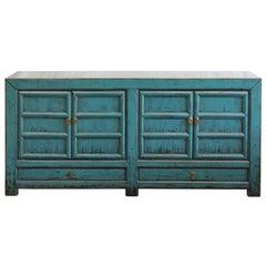Blue Panel Door Sideboard