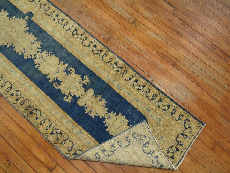 Kirman Blue Persian Runner For Sale