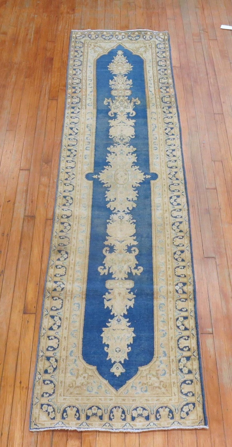 Blue Persian Runner In Good Condition For Sale In New York, NY