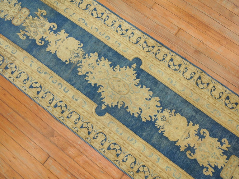 20th Century Blue Persian Runner For Sale
