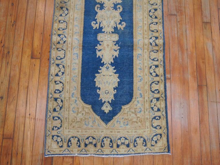 Wool Blue Persian Runner